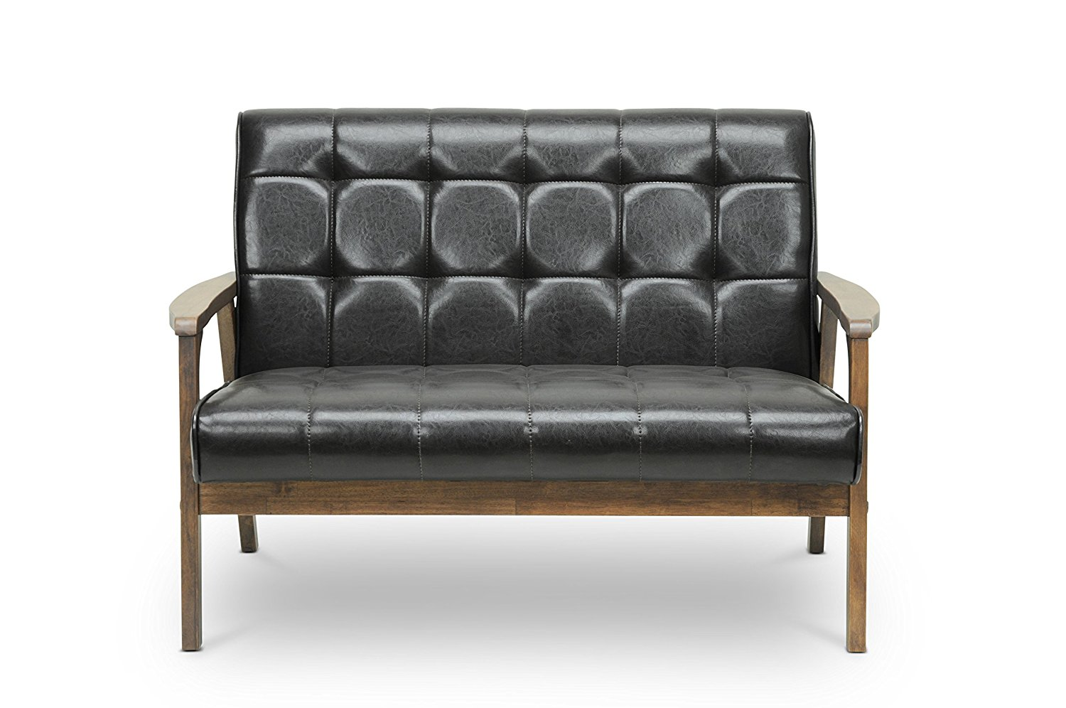 Baxton studio loveseat is a nice leather loveseat to have