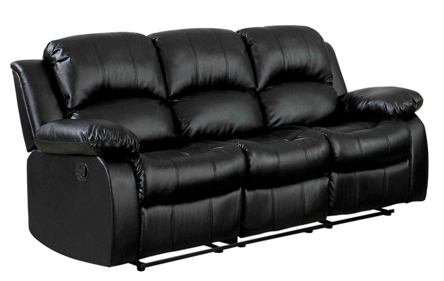 Homelegance double recliner is a cool leather sofa