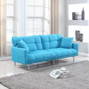 Divano Roma futon is a colorful and modern splitback futon