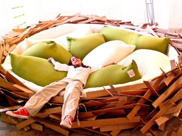 bird's nest for living room without a sofa