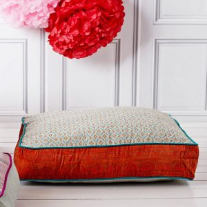 Floor cushions can be used as a replacement to sofas in your living room