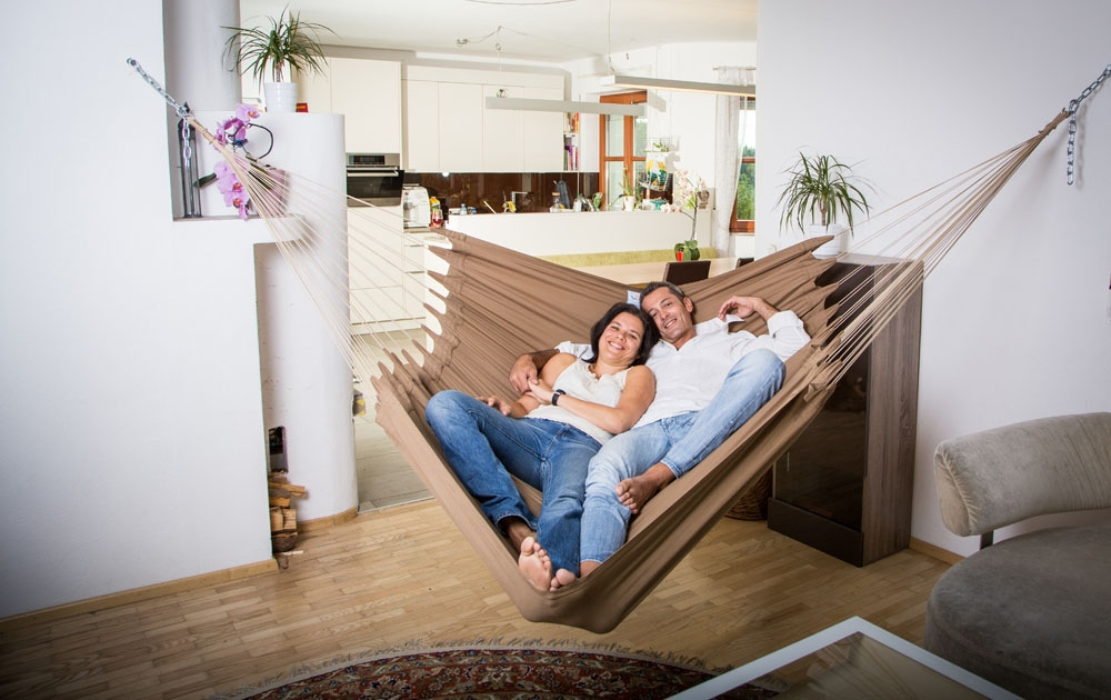hammocks are good way to replace sofa in homes