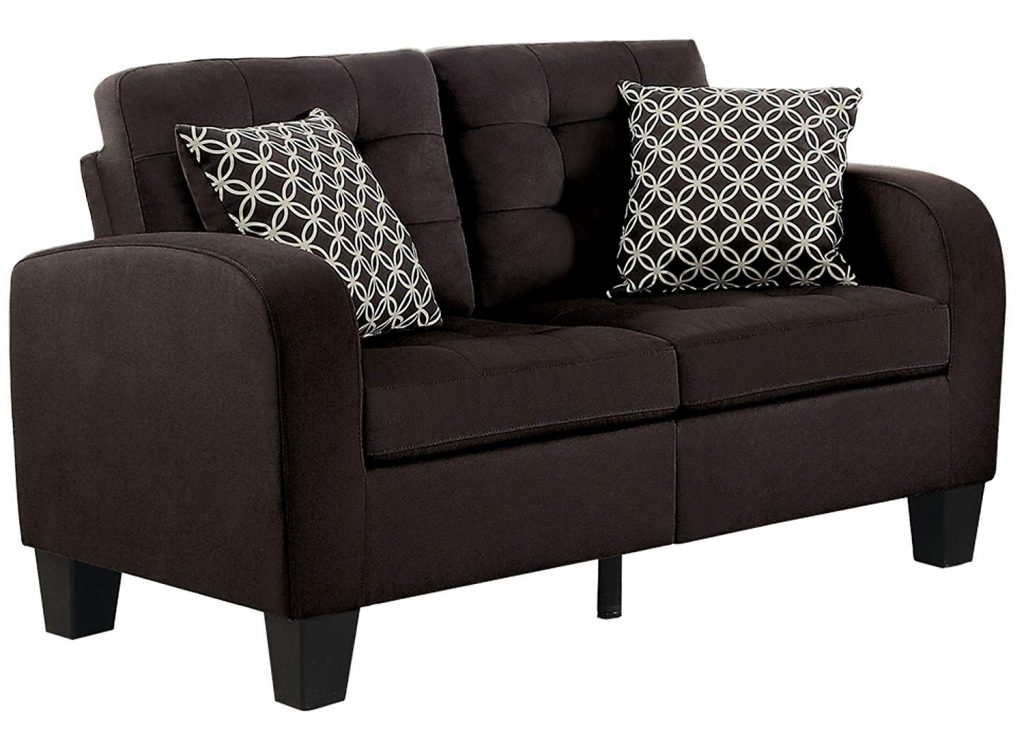 Homelegance sinclair is one of the most affordable sofas in the market. Its stylish and compact