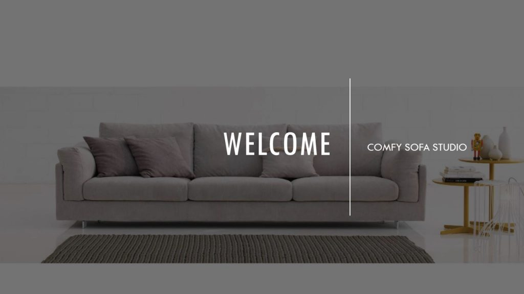 Homepage of Comfy Sofa Studio website