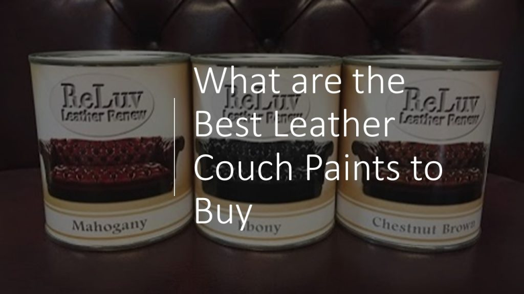 An overview of the best leather couch paints to buy
