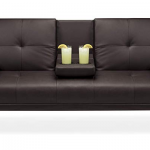 Best Choice Products Modern Faux Leather Convertible Folding Futon Sofa Bed