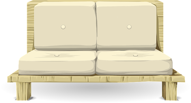 brown armless loveseat